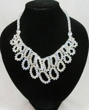 Unbranded Crystal Glass Bib Costume Necklaces & Pendants