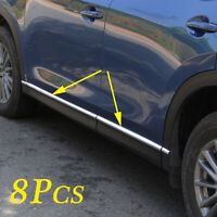 Steel Door Side Body Molding Stripes Cover For CX-5 CX5 KF 2017-2020 Accessories