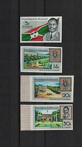 Burundi 1967 Minr 378-381 B ** / mnh Republik coat of armes Wappen