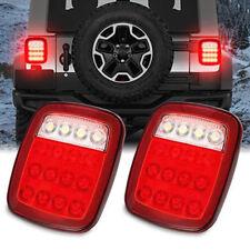 2x16 LED Red/White Truck Trailer Boat Stop/Turn/Tail Back Up Reverse LightLamSKU