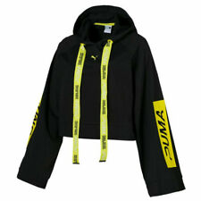 Puma Xtreme Tape Womens Hoodie Pullover Black Cropped Jumper 577382 01 A72B