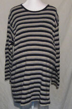 Motherhood Womens Size XL Striped Maternity Pullover Top Tee Blue 100% Cotton