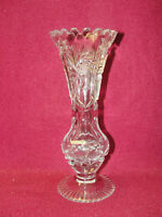American Brilliant Cut Crystal BUD VASE - Cut Pinwheels and Stars