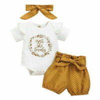 Jumpsuit Clothes Girl Romper Polka Dot Headband Outfits Tops Newborn Baby Shorts