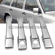 Triple Chrome Door Side Handle Cover for Mercedes-Benz W124 W201 190E 220E CT