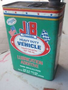 Oil tin   JB  heavy Duty Vehicle Oil   one gallon  USA