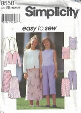 Girls Top Jacket Skirt Pants Simplicity 8550 Spring Designs Sizes 12-16