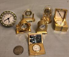Lot of 7 Miniature Clocks,