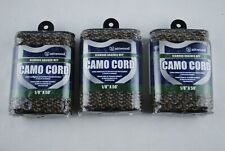 """Attwood Diamond Braid MFP Camo Cord Rope 1/8"""" X 50 ft 11717-2 Camping Lot of 3"""