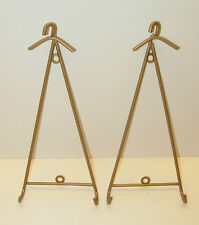 "1 New Bronze wall mount plate holder for 8"" or smaller w coat hanger top 4 avail"