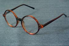 Vintage Round 43mm Tortoise Eyeglass Frame Full Rim Spectacles RX Retro Glasses