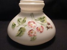 """7""""~~MILK GLASS PAINTED & MOLDED DESIGN SHADE"""