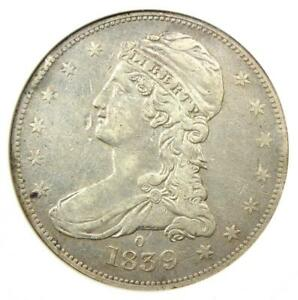 """1839-O Capped Bust Half Dollar 50C - ANACS XF Details - Rare """"O"""" Mint Coin!"""