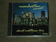 Manhattan Sunset by David Matthews Trio (Piano) (CD, Pro Jazz Records)