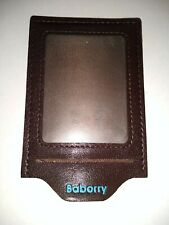 Baborry Brown Leather Luggage Suitcase Tag