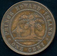1871 Prince Edward Island 1 Cent Coin (Dies ⇅)