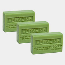3 x 125g  Verbena French Soaps - with Shea Butter - Savon de Marseille