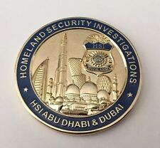 US ICE HOMELAND SECURITY CUSTOMS ARAB EMIRATES OMAN DUBAI POLICE CHALLENGE COIN