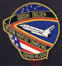 """LMH PATCH Badge NASA SPACE SHUTTLE Columbia 1986 STS-61-C Mission Insignia 4.25"""""""