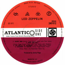 """X 6  LED ZEPPELIN  VINYL STICKERS RECORD LABELS   4"""" ROUND 100MM QUALITY 2  FREE"""