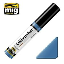 Ammo of Mig Oilbrusher Sky Blue - Oil Paint with Fine Brush Applicator #3528