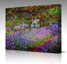 "Claude Monet -  Monet's Garden Path Giverny 16x12"" Canvas Art Picture Print"