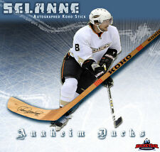 TEEMU SELANNE Signed KOHO Wood Model Stick - Anaheim Ducks