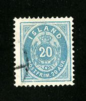 Iceland Stamps # 29 VF Used Scott Value $50.00
