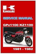 KAWASAKI Workshop Manual KZ1100 GPz1100 Z1100 1981 1982 and 1983 Service Repair