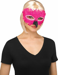 Womens Deluxe Feathered Bird Half Mask Masquerade Halloween Costume Accessory