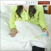 100% Natural Silk Microfibre Filled Hotel Quality Luxury Duvet Quilt All Sizes