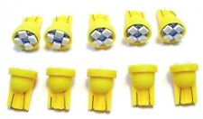 10 Yellow Kit Chevy *BRIGHT* 12V LED 168 Wedge Instrument Panel Light Bulbs NOS