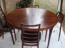 Danish Modern Rosewood Dining Table by Ib Kofod Larsen