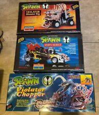 LOT 3 Spawn Vehicles Violator Monster Rig Chopper & Mobile NEW Bad Shape Boxes