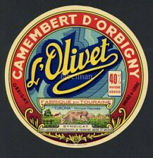 Original French Camembert Cheese Label, Cow, 181