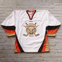 San Francisco Bulls Hockey Jersey by Reebok ECHL Size M White Away