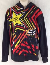 Fox Racing Mens XL Rockstar Energy Drink Spike Vortex Hoodie Full Zip Jacket