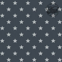 Grey & Silver Star Print Sticky Vinyl Fablon (346-0653) 45cm x 2m