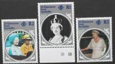 ZIL ELWANNYEN SESEL 1985 Queen Mother INVERTED WMKS. Set of 3. MNH. SG115w/117w.
