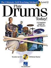 Play Drums Today Learn to Play Beginner Drummer Music Book & CD Level 2