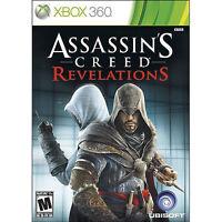 Assassin's Creed Revelations Microsoft Xbox 360 2011 COMPLETE CIB Clean Disc