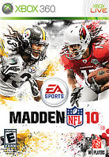 Xbox 360 : Madden NFL 10 XBOX LIVE FREE SHIP IN USA!