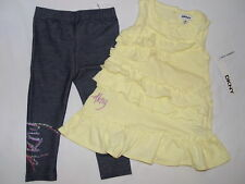 NWT DKNY 2 pc set  GIRL size 18M yellow