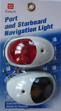 MARINE NAVIGATION LIGHTS PORT STARBOARD PAIR WHITE SURROUND BOAT SAIL RIB