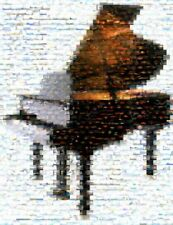 Amazing Baby or Grand Piano Montage clouds art print