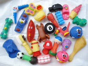 SQUEAKY pet/dog TOYS x 1000      EXCELLENT QUALITY!!             new lower price