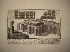 Piranesi stampa antica Condotto Terme Caracalla Roma old print 1756 kupferstich