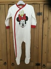 New With Tags Girls Baby Grow ,age 18 Mnths Minnie Mouse Disney Baby .
