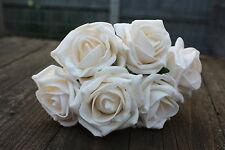 6 x RICCHI Vintage Cream tridimensionale Schiuma Cottage Rose Aperto 6cm nozze fiori
