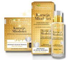 Bielenda REJUVENATING anti-wrinkle SERUM + cream 50+ Snail slime ,24K Gold SET